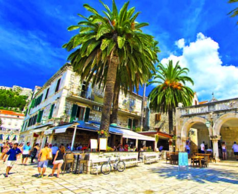 Palm Promenade in the Town of Hvar