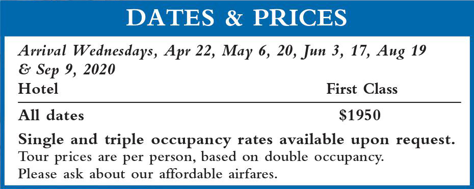 Crown Dalmatia II Dates and Prices 2020