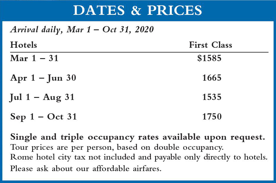 Crown Mediterranean Dates and Prices 2020