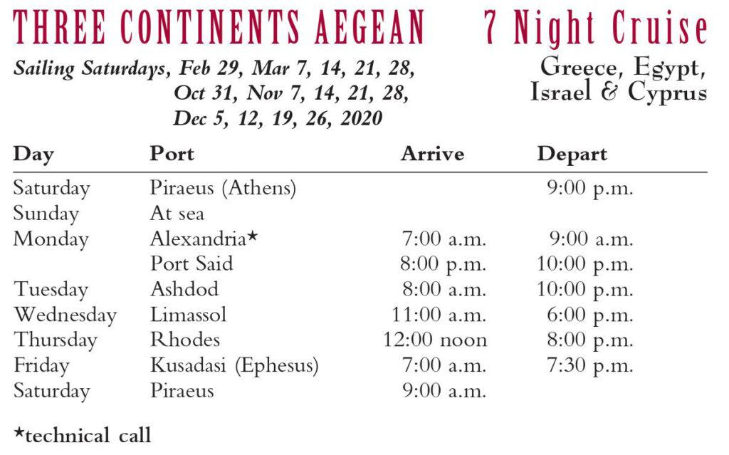 Three Continents Aegean 7 Night Cruise